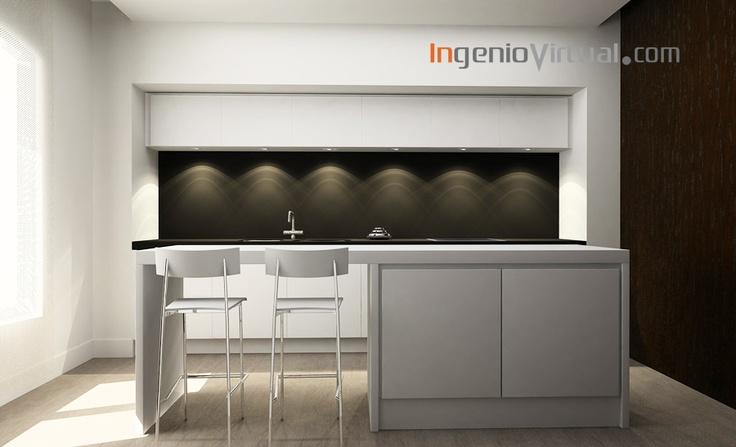 ingeniovirtual.com - Infografía para proyecto de cocina en Loft.