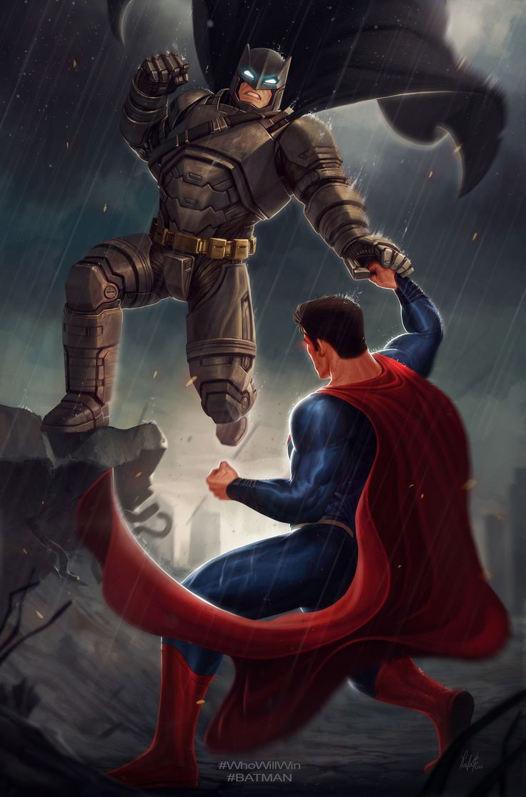 Batman vs Superman, Raciel Avila on ArtStation at https://www.artstation.com/artwork/zXAk2