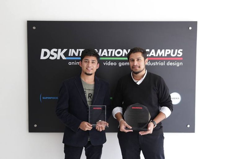 DSKIC is proud to announce that Mayank Gala, Yr.4 Digital Design and Kaushal Dabak, Yr.5 Transportation Design have won the Gold and Silver Award respectively at Honda Design Workshop 2017(Thailand); for their innovative designs projecting 'Future Exciting Vehicle'. Congrats Mayank & Kaushal! #dskic #dskinternationalcampus #honda