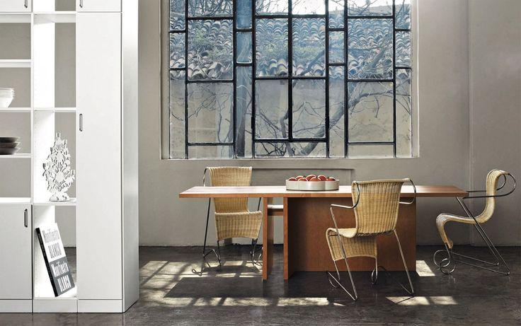 DRIADE Table I table | Zigo chairs | Oikos bookshelf