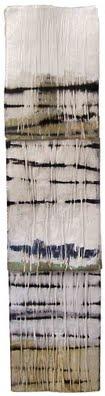 "Terri Brooks, ""Tin Totem"", 2007, oil and enamel on three paper blocks. 142x41cm.  Via leslieavonmiller.tumblr.com"