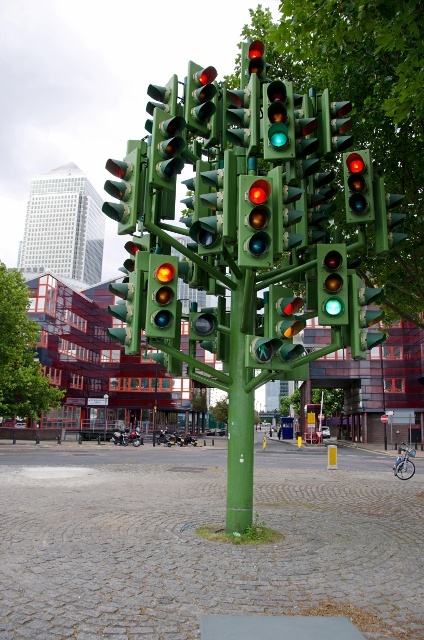 Is it art or a last ditch traffic control device in London?