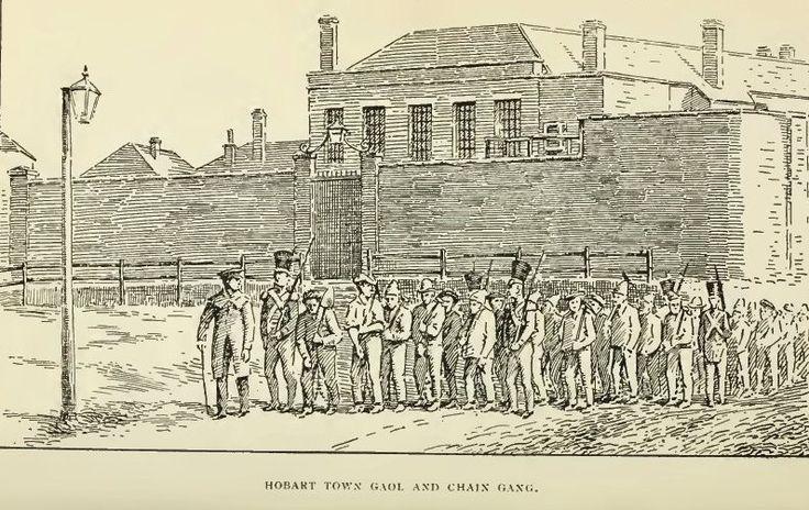 Hobart Town Gaol and Chain Gang c1840s