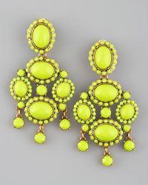 neon statement earrings
