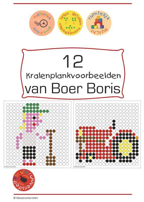 12 voorbeelden voor de kralenplank over Boer Boris. Het hele jaar door te gebruiken!