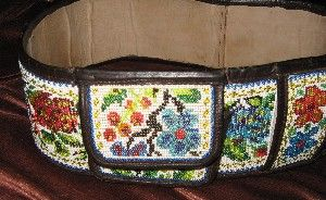 traditional beaded lether belt