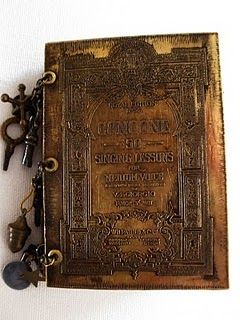 lovely book with etched metal cover created by Jen Crossley. love the texture and patina