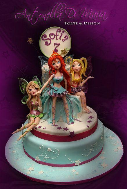 Winx Club Cake Fairy Land more at Recipins.com