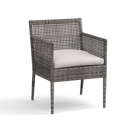 cammeray allweather wicker dining chairs pottery barn