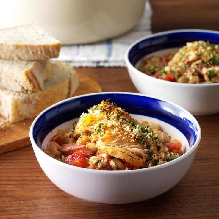 Cassoulet for Today Recipe -Traditionally cooked for hours, this version of the rustic French cassoulet offers the same homey taste in less time. It's easy on the wallet, too. —Virginia Anthony, Jacksonville, Florida
