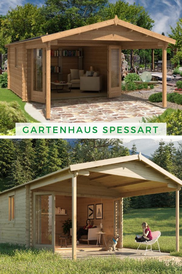 Gartenhaus Spessart ISO Backyard diy projects, Backyard