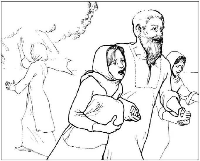 26 best lot images on pinterest drawings, school and bible stories lot and his wife coloring pages Lot S Wife Turned into a Pillar of Salt Nehemiah Coloring Page