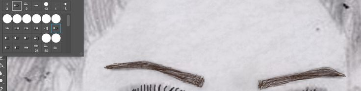 Fourthly,I used the flat point medium stiff brush to create the thin hair effect for my eyebrows