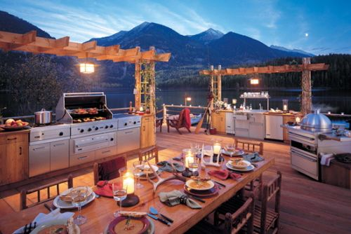 Outdoor kitchenDreams Kitchens, Outdoor Living, The View, Outdoor Patios, Outdoor Kitchens, Outdoor Cooking, Outdoorkitchen, Outdoor Spaces, Backyards
