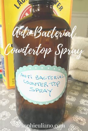 You can use this handy and very inexpensive DIY  Antibacterial countertop spray all around your kitchen (wooden boards, granite counter, fridge/freezer etc). Since the FDA is now banning chemical antibacterial agents in all kinds of soaps (thank God), it now behooves us to make our own safe soaps and sprays, which is easy when you use essential oils. I have used tea tree oil in this spray, but if you don't like the scent, you can always substitute with lavender or pine. Check out this DIY…