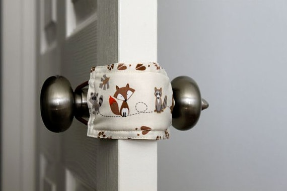 Ingenious idea! Prevents door from slamming & possibly locking. I like this idea.