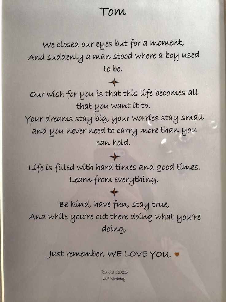 Birthday Quotes Beautiful Framed Words Of Wisdom I Put Together For My Sons 21st Read