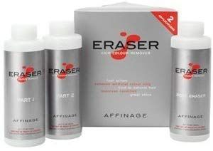 Affinage Eraser Salon Professional Hair Colour Remover Stripper Of Dye Tint With Free Bottle 6 Necessary For Treatment By
