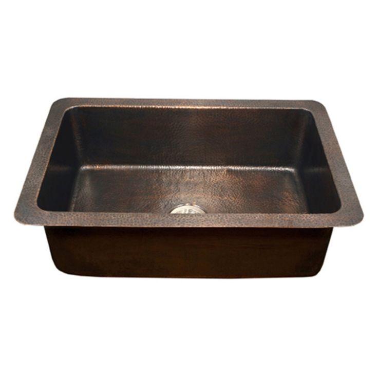 Houzer Hammerwerks Series Chalet Chef Undermount Copper Lavatory Sink - HW-CHA11