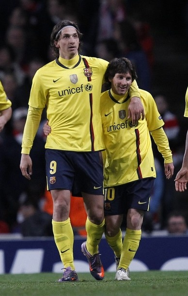 Ibrahimovic y Messi!