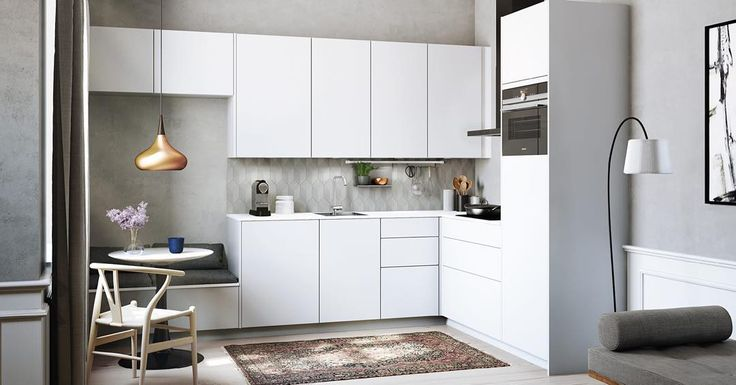 The handsfree kitchen  Touch open and close of drawers and doors. Making life in the kitchen more enjoyable and the look more calm and stylist than ever before #nohandles #nomillings #innovation #kvik #sentibykvik #sociablekitchen #handsfree #kitchen #kök #keuken #keittiö #cusine #kjøkken #køkken #dreambig #lowprice