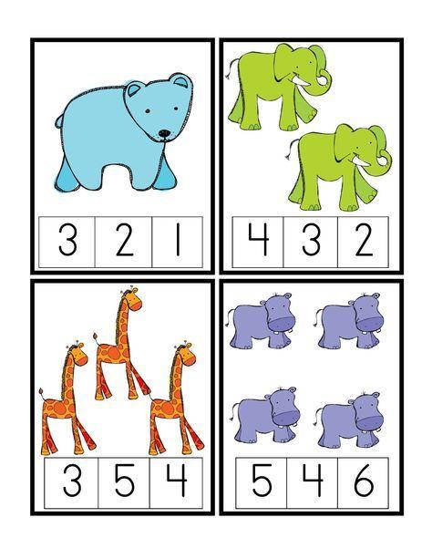 Zoo Numeric Cards // Tarjetas numéricas de animales