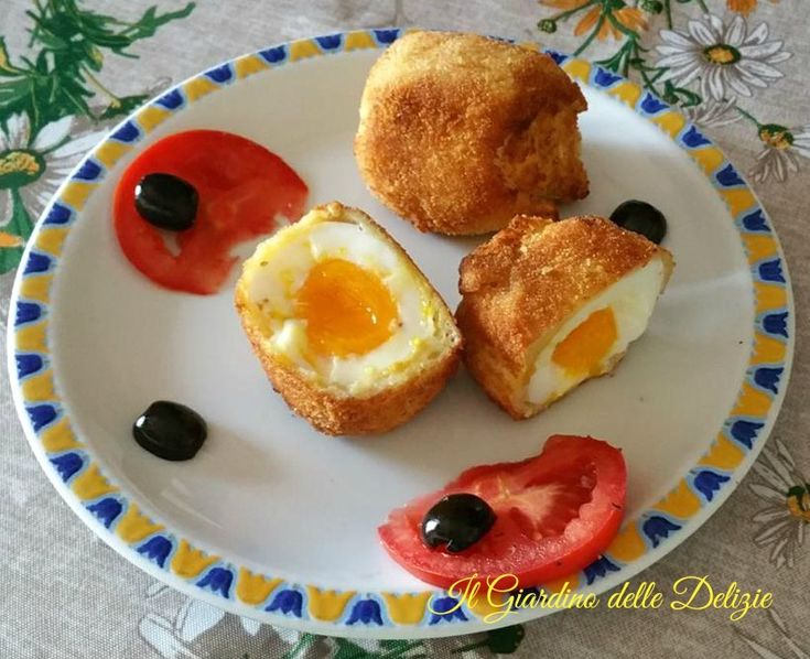 Uova+impanate+cremose+e+fritte