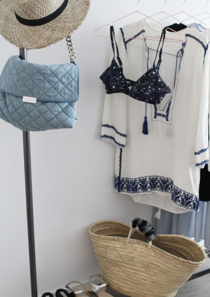 Summer Essentials, Boho, Dress, Isabel Marant, Strohhut, Strohtasche, Denim, Bikini, Sandalen, Pantoletten, Inspiration, Fashion, Trend,…