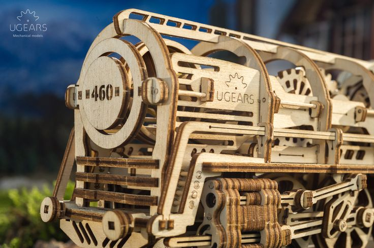 Ugears Steam Locomotive with Tender combines all of the technical and artistic innovations that builders have come to appreciate in our other models and takes them a step beyond.