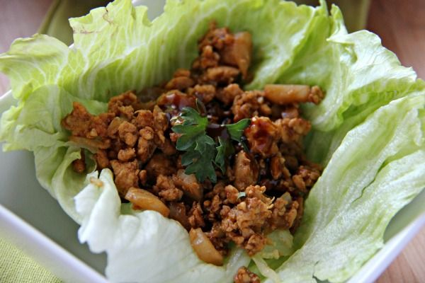A 5-star  recipe for P.F. Chang's Chicken Lettuce Wraps.