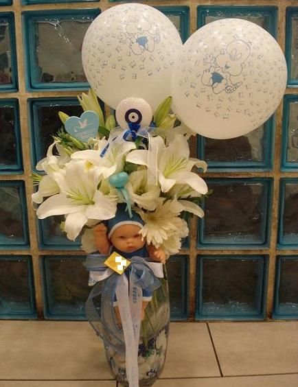 Mavi Düşler   Canlı Bebek Aranjman, 84,74 TL, Ürün Kodu : Bebek Çiçek 04, Kdv Dahil Fiyatı: 164,00 TL,  Satın Almak için web sitemizi ziyaret ediniz Telefon ile Sipariş: 0216 384 7038