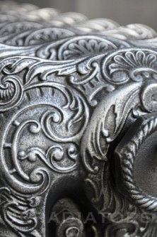 French decorative cast iron radiator