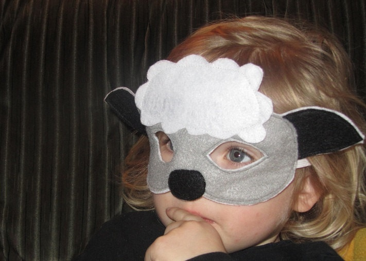 sheep mask made from felt
