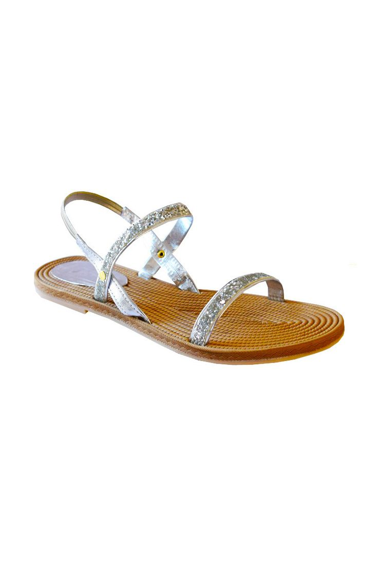 STRAPY SILVER SANDAL | #partywear #sandals on flat 50% off . Visit www.madeinmyindia.com