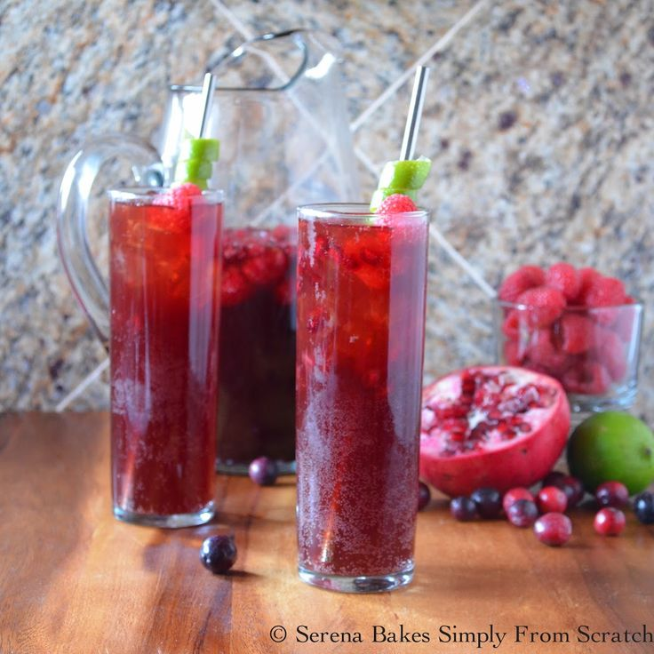 Sparkling Pomegranate Berry Punch by Serena Bakes Simply From Scratch