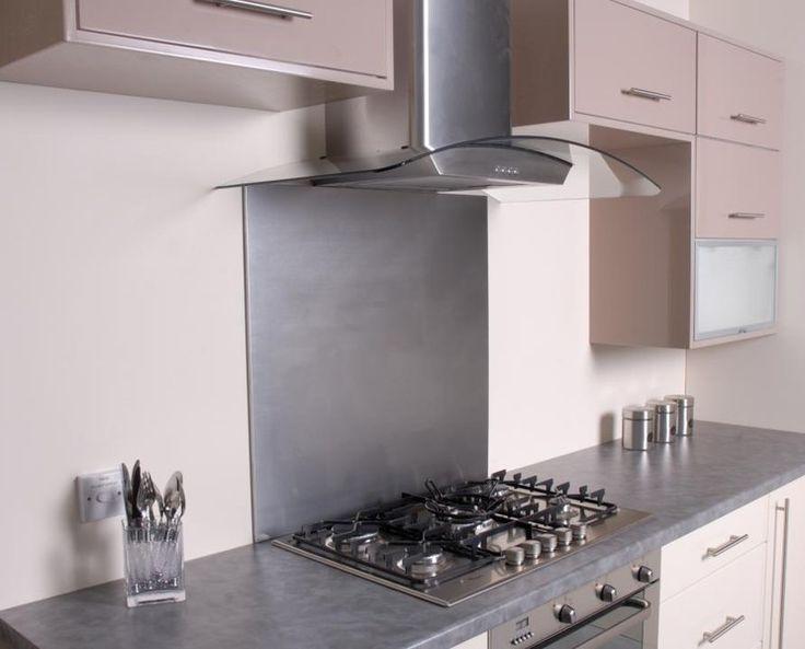 Brushed Stainless Steel Kitchen Splashback | Splashback Shop