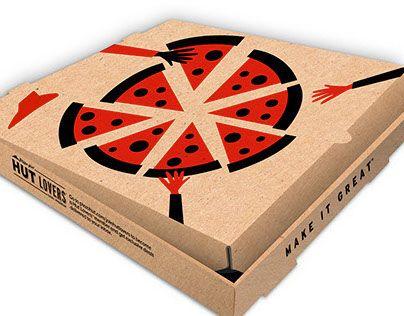 pack Pizza. Take away box