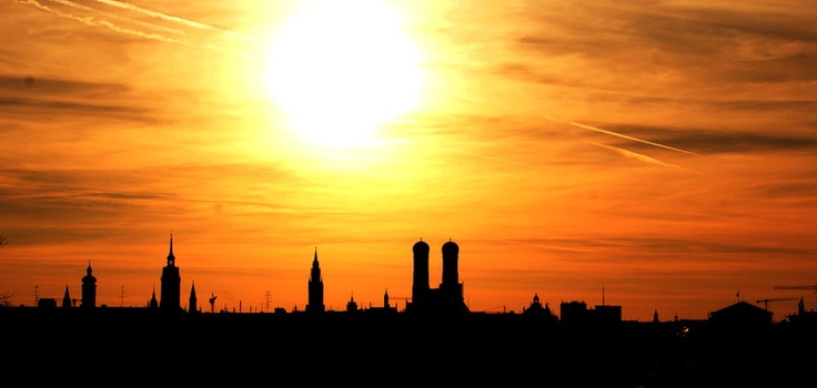 My frist Photo shoots about the sunset this year. Munich.