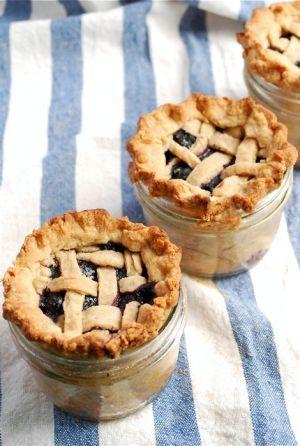 Easy picnic food - Lattice-Top-Blueberry-Pie-in-a-Jar.jpg
