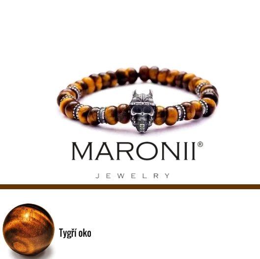 Náramek Maronii z tygřího oka a komponentů ze střá´íbra 925/ sterling silver