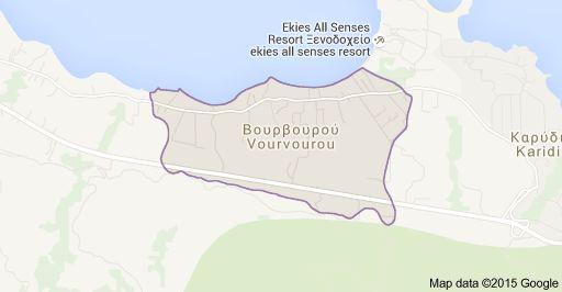 Map of Vourvourou, Grecia