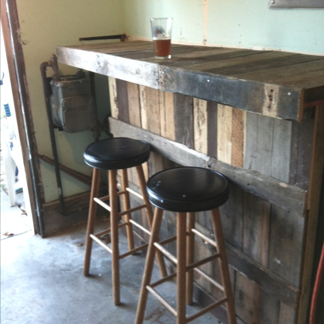 Our New Bar In The Garage