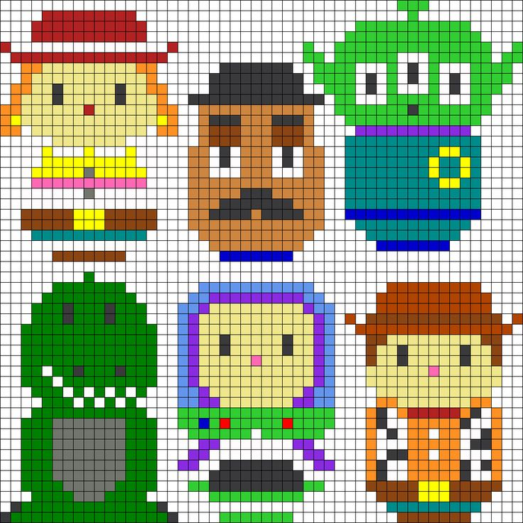 Toy Story Characters Perler Bead Pattern
