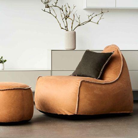 Sackit RETROit Dunes Sitzsack mit Lederbezug, Indoor