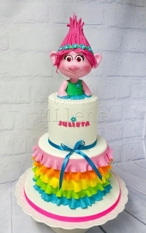 Poppy trolls cake - Cake by Milene Habib