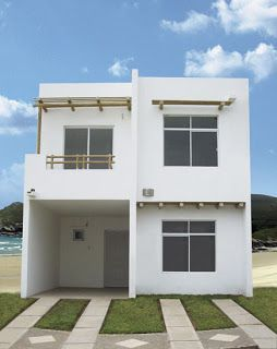 Pinterest casas minimalistas de interes social dos plantas for Plantas de casas minimalistas