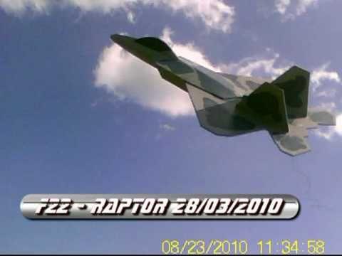 F22  Raptor Rc  volo di collaudo depron 6mm