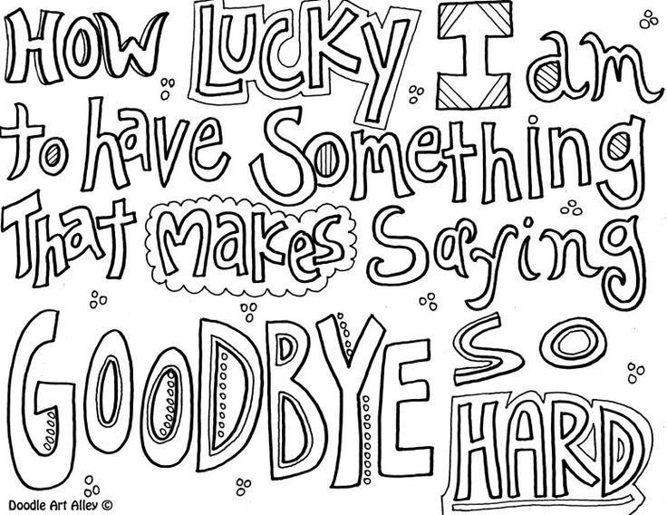 Quote Coloring Page Saying Goodbye Art Group