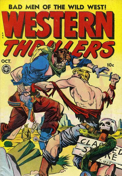 Western Thrillers #1 - Comic Book Cover Poster - Available Now:  http://aimcollectibles.blogspot.com/2015/10/western-thrillers-1-comic-poster.html