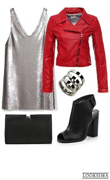 Впереди вечеринка? Отложите скромность и выбирайте сверкающее платье и яркую куртку! Купить образ можно здесь:   http://looksima.ru/look/41733/